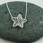 Silver Wire Wrapped Star Necklace