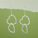 Silver Love Hearts Earrings