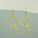 Gold Love Hearts Earrings