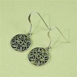 Silver Floral Dish Earrings