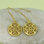 Gold Floral Dish Earrings