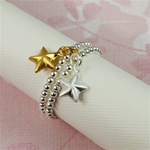 Two Tone Star Stackable Ring