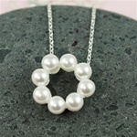 Silver Pearl Ring Necklace