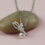 Silver Fairy Pearl Necklace