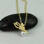 Gold Fairy Pearl Necklace