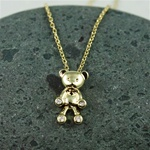 Gold Teddy Bear Necklace