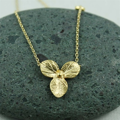 Gold Hydrangea Necklace