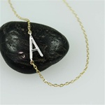 Silver Initial A Necklace