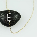 Silver Initial E Necklace