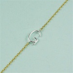 Silver Initial G Necklace