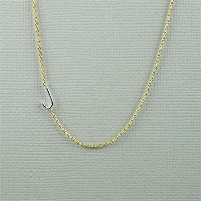 Silver Initial J Necklace