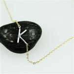 Silver Initial K Necklace