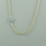 Silver Initial N Necklace