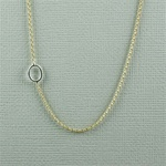 Silver Initial O Necklace