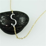 Silver Initial S Necklace