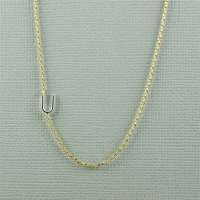 Silver Initial U Necklace