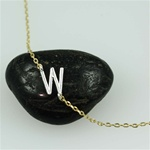 Silver Initial W Necklace