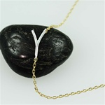 Silver Initial Y Necklace