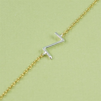 Silver Initial Z Necklace