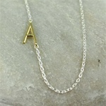 Gold Initial A Necklace