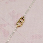Gold Initial B Necklace