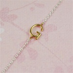Gold Initial G Necklace