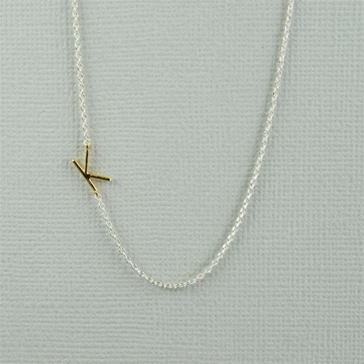 Gold Initial K Necklace