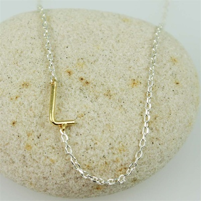 Gold Initial L Necklace