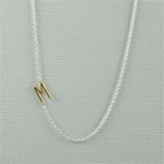 Gold Initial M Necklace
