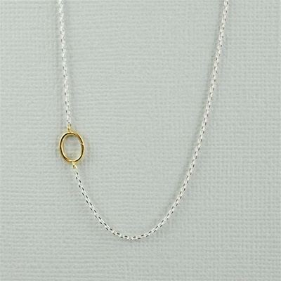 Gold Initial O Necklace