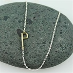 Gold Initial P Necklace