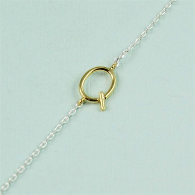 Gold Initial Q Necklace