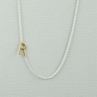 Gold Initial R Necklace