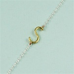 Gold Initial S Necklace