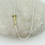 Gold Initial T Necklace