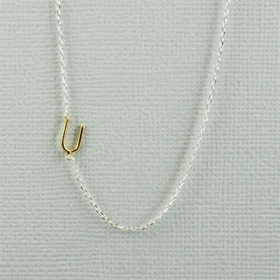 Gold Initial U Necklace