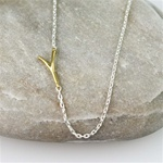 Gold Initial Y Necklace