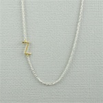 Gold Initial Z Necklace