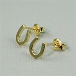 Gold Horseshoe Earrings