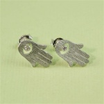 Silver Hamsa Earrings