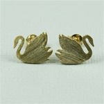 Gold Swan Earrings