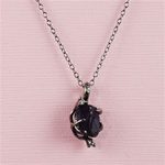 Handmade Black Rough Amethyst Necklace