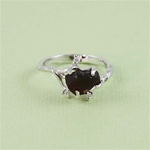 Handmade Sterling Silver Raw Garnet Ring