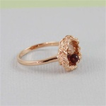 Handmade Rose Gold Raw Gemstone Bird Nest Ring