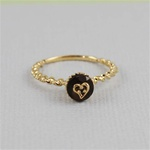 Handmade Gold Heart Smoky Quartz Cupcake Ring