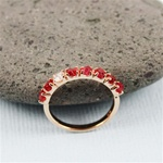 Handmade Pink Gold Raw Red Spinel Band Ring