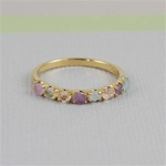 Handmade Gold Raw Gemstone Band Ring