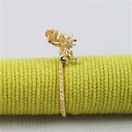 Handmade Gold Citrine Angel Ring