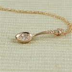 Handmade Pink Gold Spoon Necklace