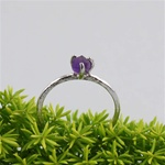Handmade Silver Raw Amethyst February Birthstone Ring